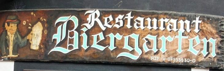 Restaurant Biergarten Banner